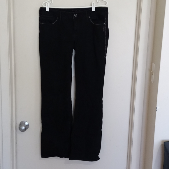 Silver jeans black low rise boot cut